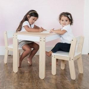 P'kolino Little One's Table and Chairs in White - Urban Stroller