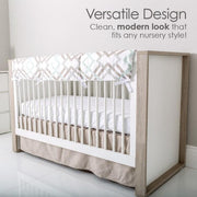 P'kolino Grigio Convertible Crib in Milk & Grey - Urban Stroller
