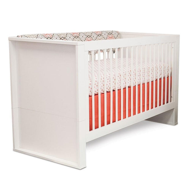 P'kolino Bianco Convertible Crib in Milk & White - Urban Stroller