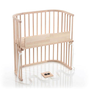 Babybay Bedside Sleeper Crib in Natural Untreated Finish - Urban Stroller