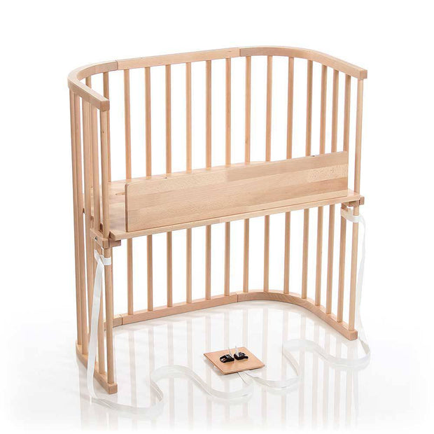 Babybay Bedside Sleeper Crib in Light Gloss Finish - Urban Stroller