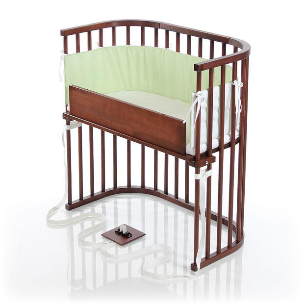 Babybay Bedside Sleeper Crib in Deep Walnut Stain Finish - Urban Stroller