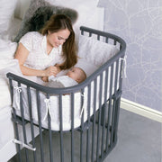 Babybay Bedside Sleeper Crib in Slate Gray - Urban Stroller
