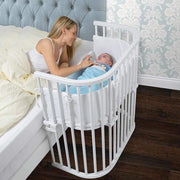 Babybay Bedside Sleeper Crib in Pure White - Urban Stroller