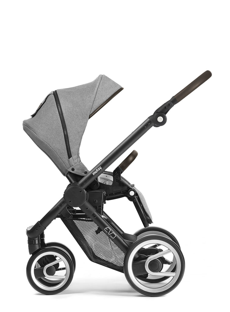 Mutsy Evo Farmer Stroller in Shadow with Silver Frame - Urban Stroller