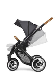 Mutsy Evo Urban Nomad Stroller in Dark Grey with Silver Frame - Urban Stroller