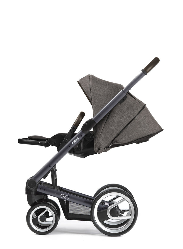 Mutsy Igo Farmer Stroller in Earth with Silver Frame - Urban Stroller