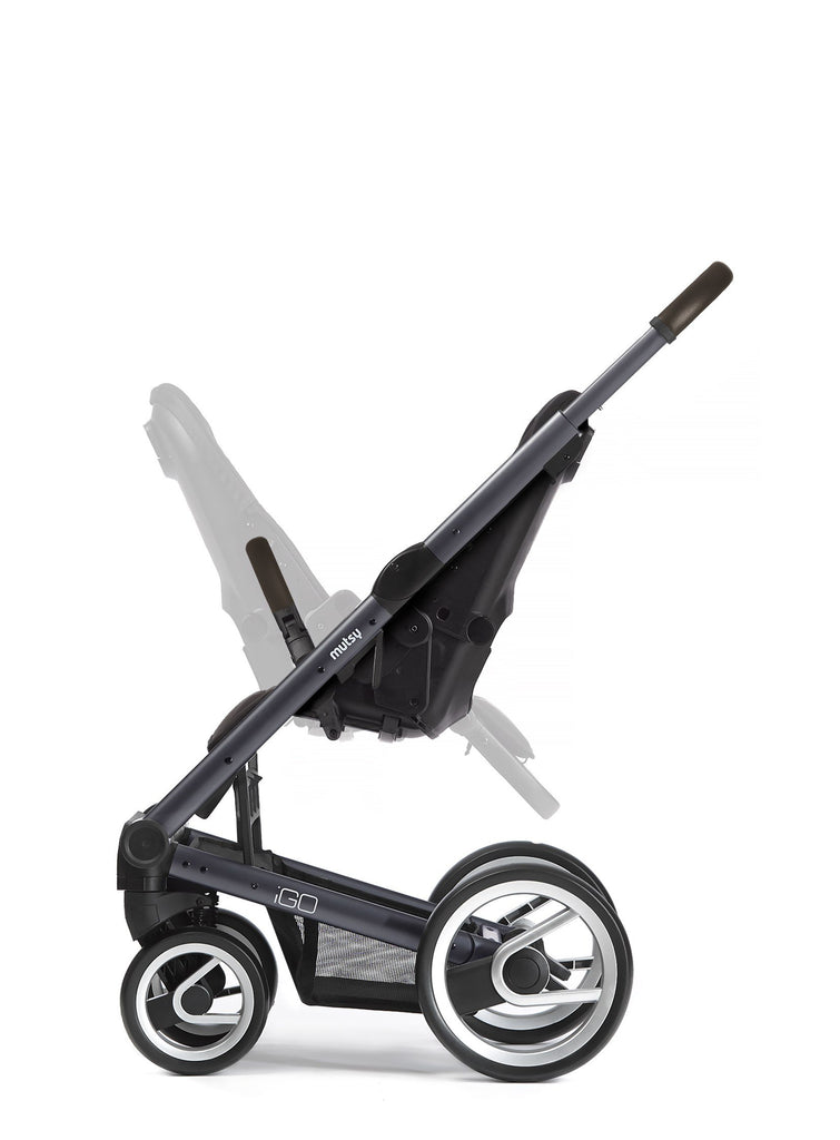 Mutsy Igo Farmer Stroller in Mist with Dark Grey Frame - Urban Stroller