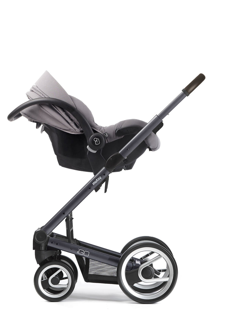 Mutsy Igo Farmer Stroller in Earth with Dark Grey Frame - Urban Stroller