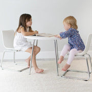 P'kolino Modern Kids Round Table and Chairs in Blue - Urban Stroller