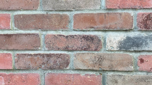 Sample of NEW STYLE BRICK VENEERS - BROWN AND RED MIXED COLOR. THIN BRICK VENEERS