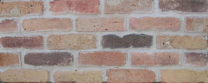 CHICAGO STYLE BRICK VENEERS- DOLPHIN MIXED COLOR. THIN BRICK VENEERS FOR INTERIOR/ EXTERIOR ROOMS.