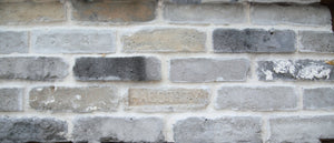 Sample of CHICAGO STYLE BRICK VENEERS- GREY MIXED COLOR.