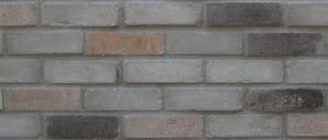 Sample of NEW STYLE BRICK VENEERS - GREY MIXED COLOR. THIN BRICK VENEERS.