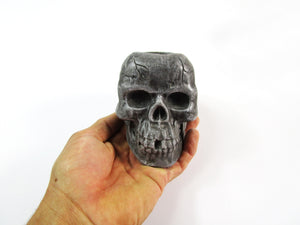 Unique Bedroom Decor Concrete Skull Pot, Hand Made. Rustic Home Decor Item. FREE SHIPPING!
