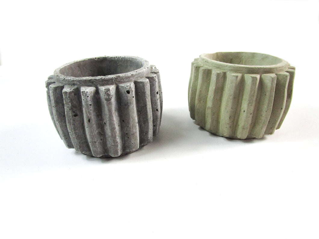 Cheap House Decor Concrete Cylindrical Pot, Hand Made. Decorate Your Home Interior. FREE SHIPPING!