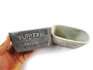 Home decor Collection. Decorate Your Interior With Rectangular Concrete Planter, Concrete Pot, Hand Made. FREE SHIPPING!