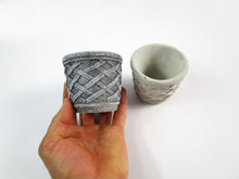 Discount Home Decor Concrete Cylindrical Pot, Hand Made Mini Planter. Free shipping!