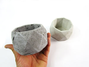 Decorative Item for Room Decor. Geometric Concrete Planter, Concrete Pot, Hand Made. FREE SHIPPING!