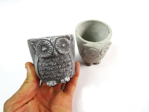 Amazon Home Decor Concrete Owl Pot, Hand Made. Modern Home Decoration. FREE SHIPPING!