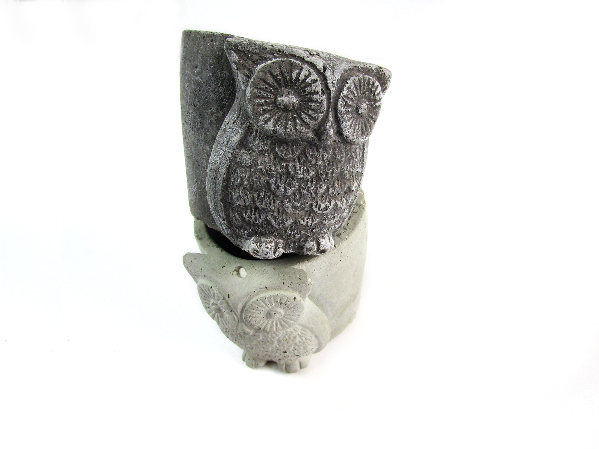 Free shipping amazon home decor concrete owl pot hand made modern home decoration
