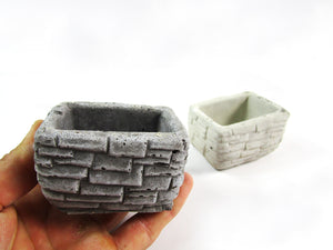 Room Decor Rectangular Concrete Planter, Concrete Pot. Hand Made. Unique Home Decorations With FREE SHIPPING!
