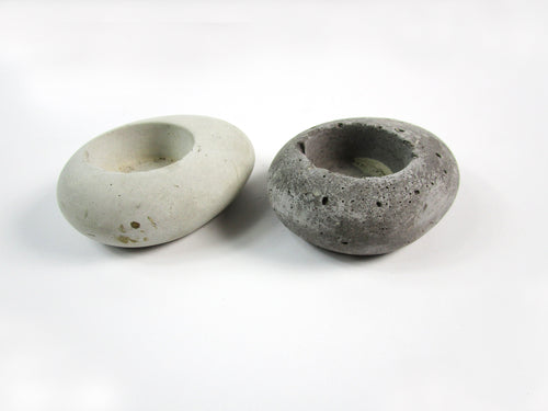 Interior Decor With Small Concrete Candle Holder, Rustic Style Candle Holder. Hand Made. FREE SHIPPING!