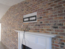 brick wall for fireplace
