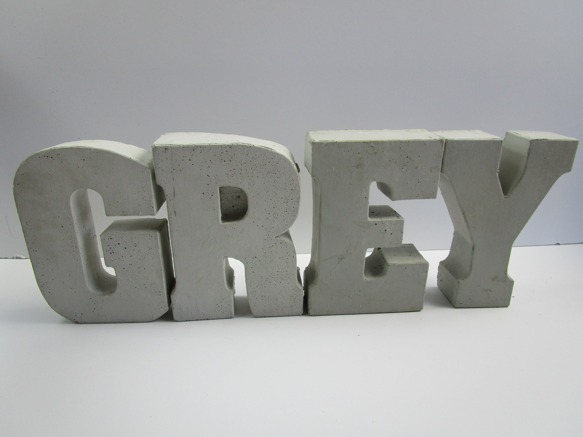 """Home Decor Wholesale Priced Concrete Letter """"F"""", Hand Made ..."""