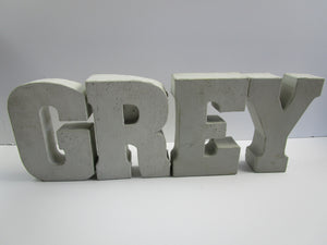"Unique Home Interior Decorating Concrete Letter ""M"", Hand Made. Discount Home Decor. FREE SHIPPING!"