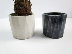 Retro Decor Your Home With Concrete Cylindrical Pots, Hand Made. Retro, Vintage Decor For Mini Garden. FREE SHIPPING!