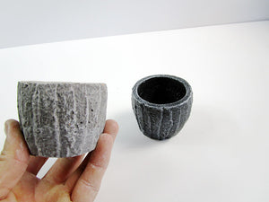 Industrial Home Decor & Office Decor Concrete Cylindrical Pot. Decorate Your Office. Hand Made. FREE SHIPPING!