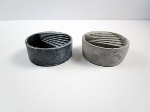 Garden For Office Desks. Concrete Cylindrical Pot, Hand Made. Perfect Gift For Office. FREE SHIPPING!