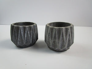 Mini Planter for your Office Or Appartment Decor. Concrete Cylindrical Pot, Hand Made. Retro Decor. FREE SHIPPING!