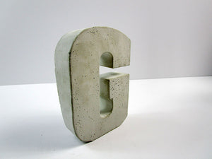 "Discount Home Decor Concrete Letter ""G"", Hand Made. Cheap Decor, FREE SHIPPING!"