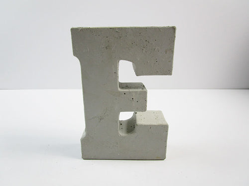 "Discount Home Decor Concrete Letter ""E"", Hand Made. Cheap Decor, FREE SHIPPING!"
