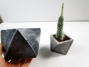 Decorate Your Appartment Or Living room. Geometric Concrete Planter, Concrete Pot. Hand Made. FREE SHIPPING!