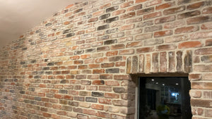 CHICAGO STYLE BRICK VENEERS- DOLPHIN MIXED COLOR. Thin Brick Veneers For Interior/ Exterior Rooms. FREE SHIPPING!