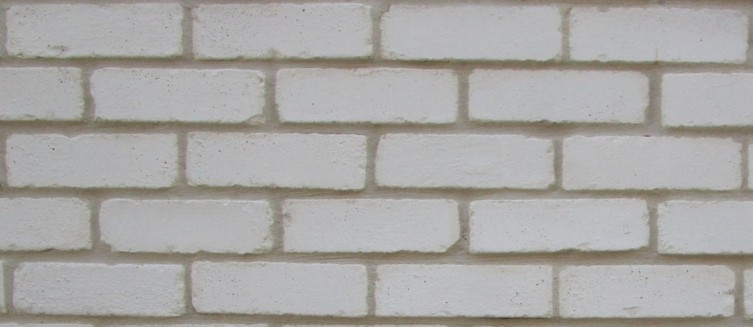 NEW STYLE BRICK VENEERS -PURE WHITE COLOR. Thin Brick Veneers. Thin Brick Tiles. Brick Veneer Walls.