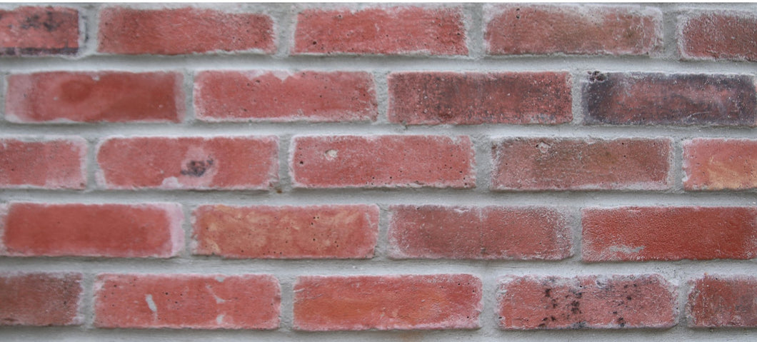 Sample of NEW STYLE BRICK VENEERS -RED MIXED COLOR. THIN BRICK VENEERS. THIN BRICK TILES. BRICK VENEER WALLS