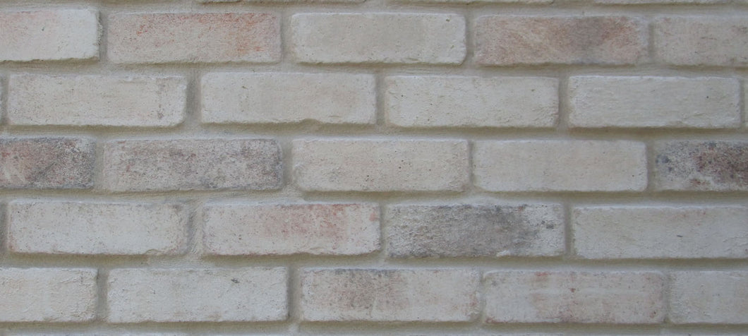 NEW STYLE BRICK VENEERS -WHITE MIXED COLOR. Thin Brick Veneers. Thin Brick Tiles. Brick Veneer Walls.
