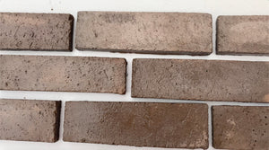 WIRECUT STYLE BRICK VENEERS - BROWN MIXED COLOR. Brick Your Interior. FREE SHIPPING!