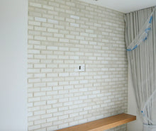 WIRECUT STYLE BRICK VENEERS - WHITE COLOR. White Brick Veneers. FREE SHIPPING!