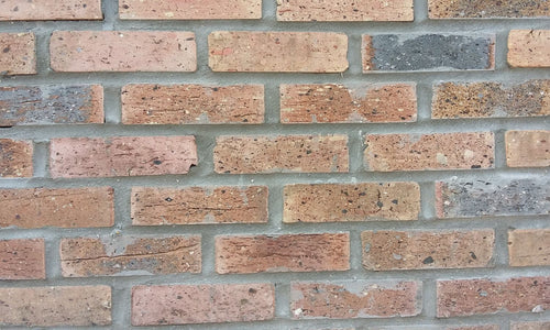 MIDDLECUT STYLE BRICK VENEERS- INSIDE COLOR. Cheap Thin Brick Veneers. FREE SHIPPING!
