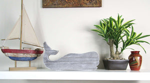Unique bedroom Design Concrete whale, Hand Made. Rustic Home Deco. FREE SHIPPING!