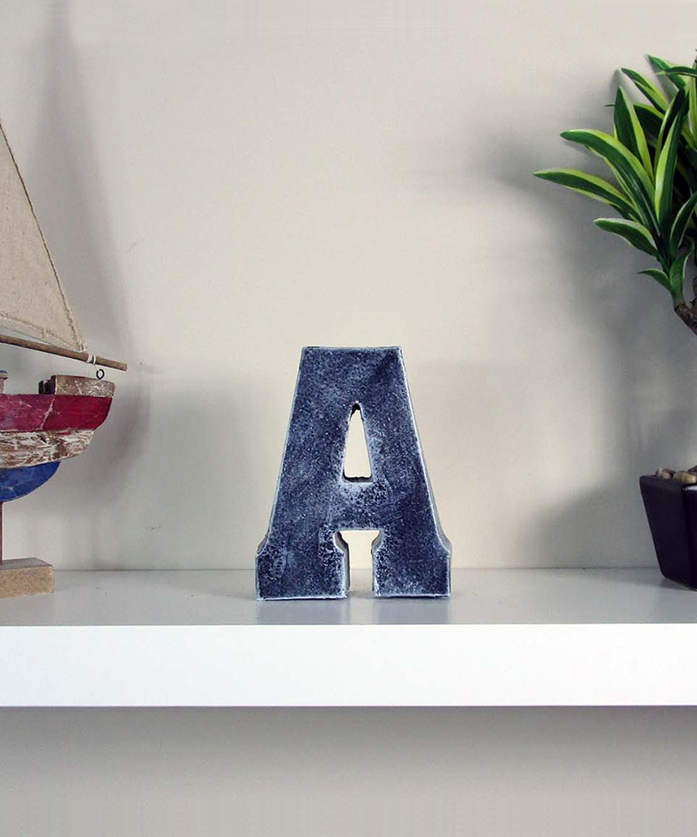 Cheap Decor, FREE; Discount Home Decor Concrete Letter U201cAu201d, Hand Made.