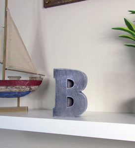 "Cheap Room Decor Concrete Letter ""B"", Hand Made. Room Decoration Item, FREE SHIPPING!"
