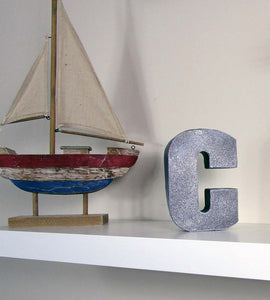 "Cool Home Accent Concrete Letter ""C"", Hand Made. Decorative Item, FREE SHIPPING!"
