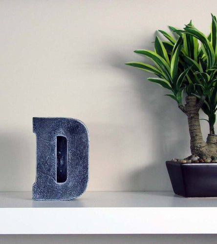 "Cheap Room Decor Concrete Letter ""D"", Hand Made. At Home Decor, FREE SHIPPING!"