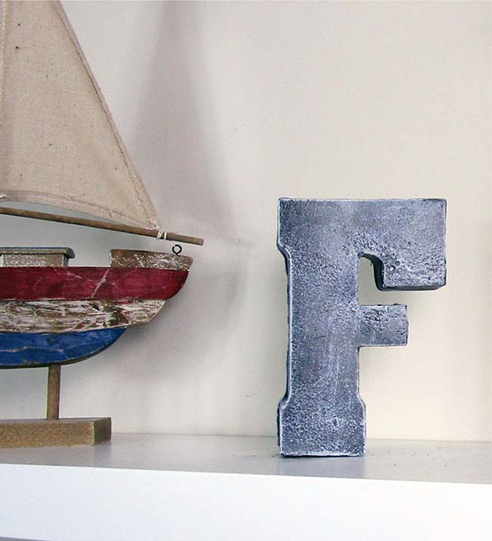 home decor wholesale priced concrete letter f hand made buy